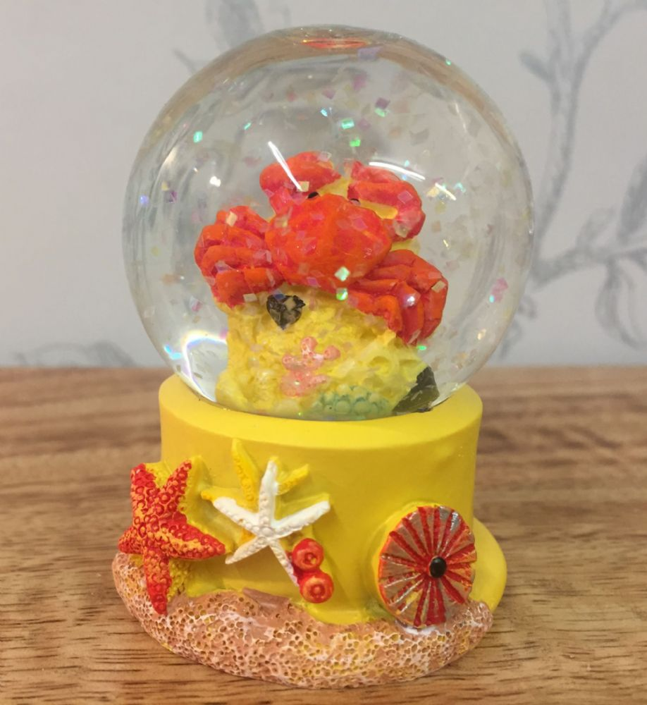 Crab Sealife Snow Globe Glitter Ball